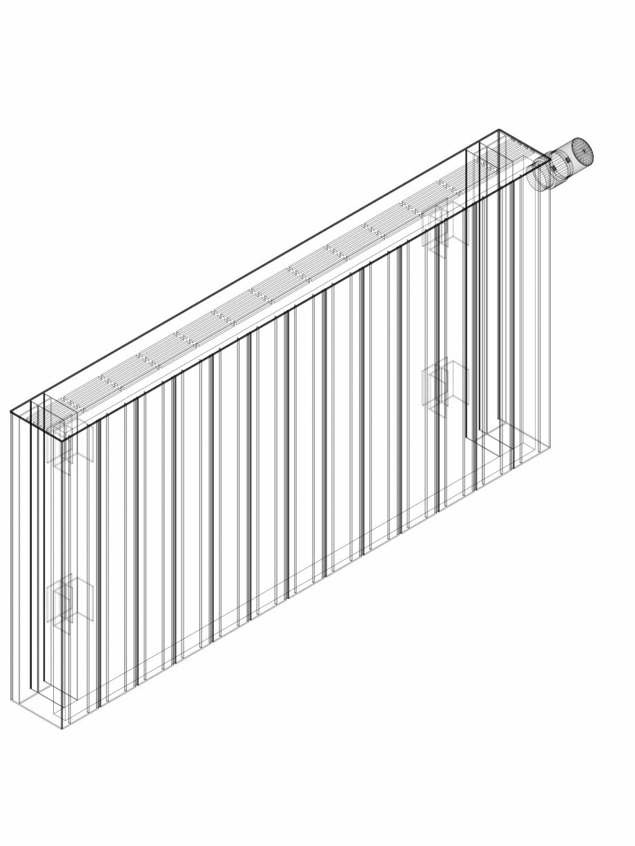 Pagina 1 - CAD-DWG Calorifer decorativ ZAROS H100 500x975 - 3D VASCO Detaliu de produs