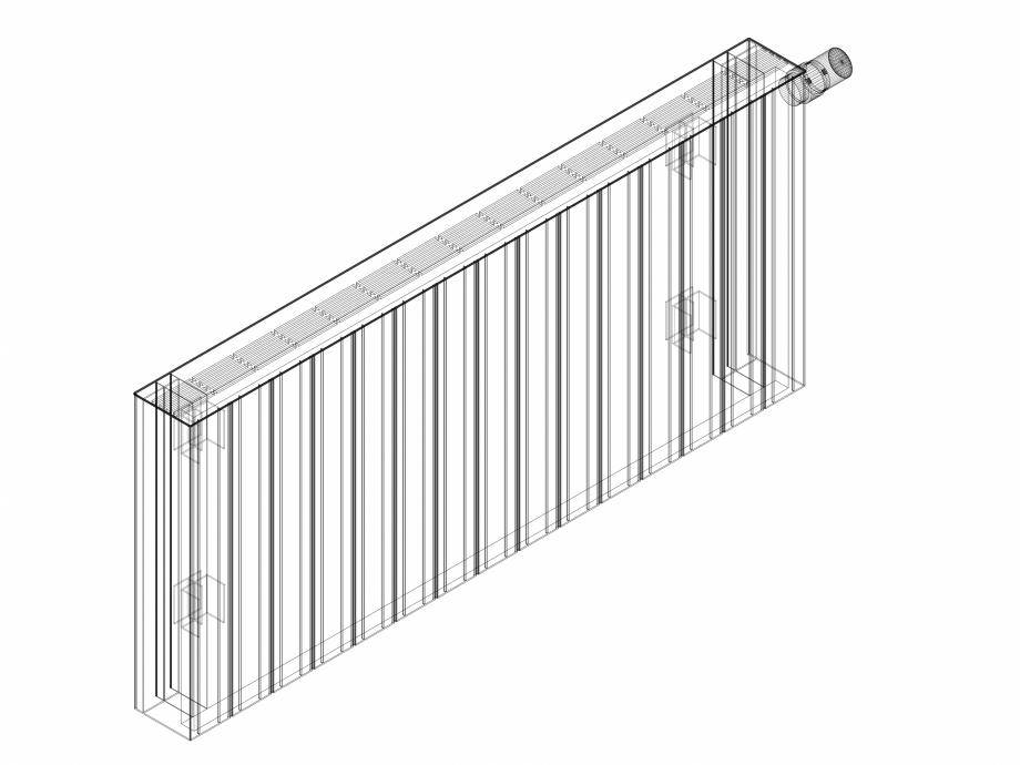 Pagina 1 - CAD-DWG Calorifer decorativ ZAROS H100 500x1125 - 3D VASCO Detaliu de produs