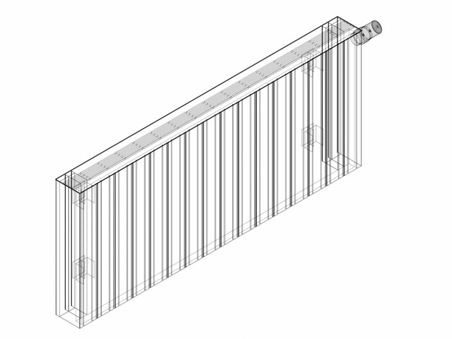 Pagina 1 - CAD-DWG Calorifer decorativ ZAROS H100 500x1200 - 3D VASCO Detaliu de produs