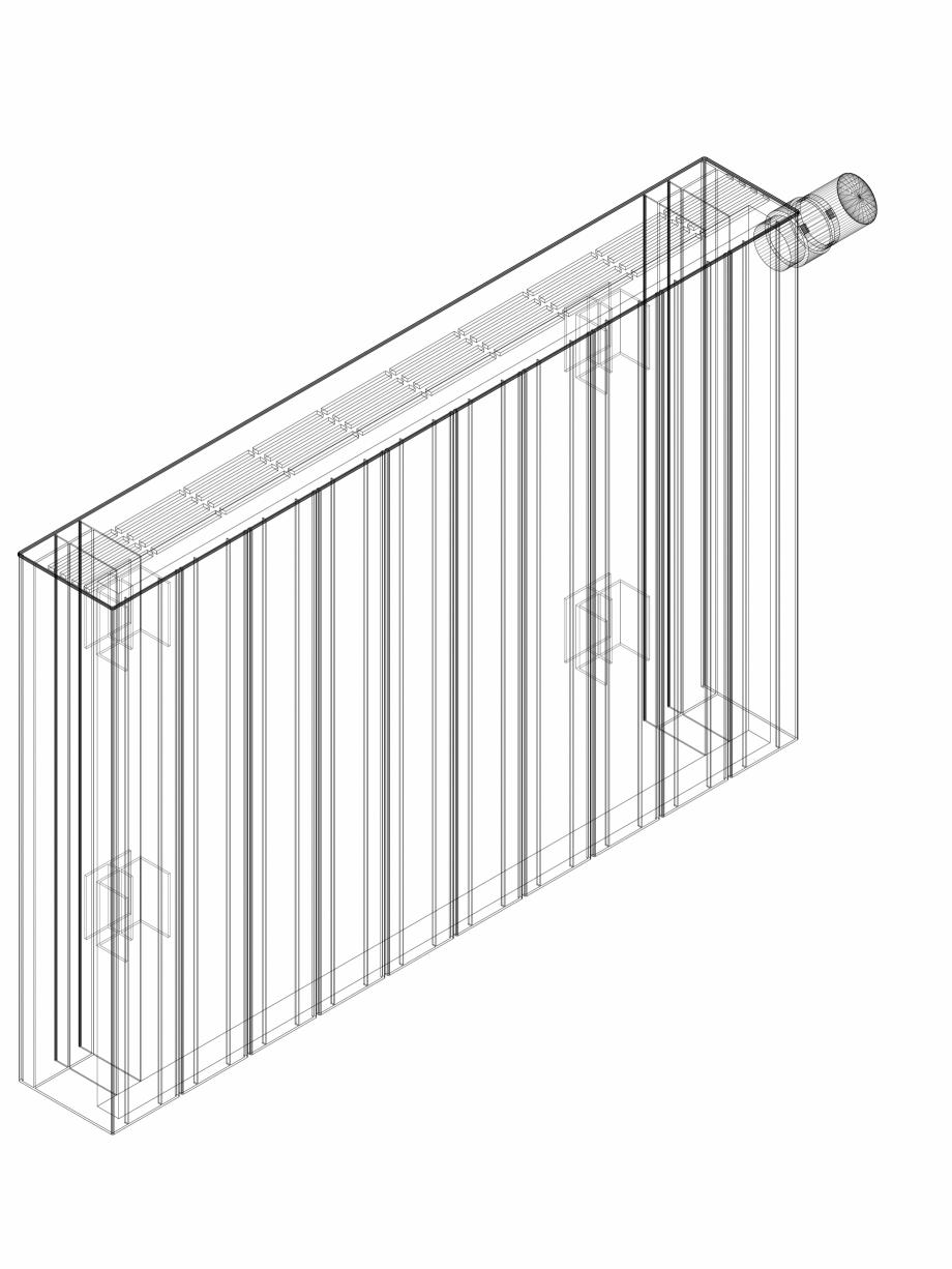 Pagina 1 - CAD-DWG Calorifer decorativ ZAROS H100 500x750 - 3D VASCO Detaliu de produs