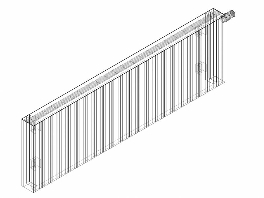 Pagina 1 - CAD-DWG Calorifer decorativ ZAROS H100 500x1650 - 3D VASCO Detaliu de produs