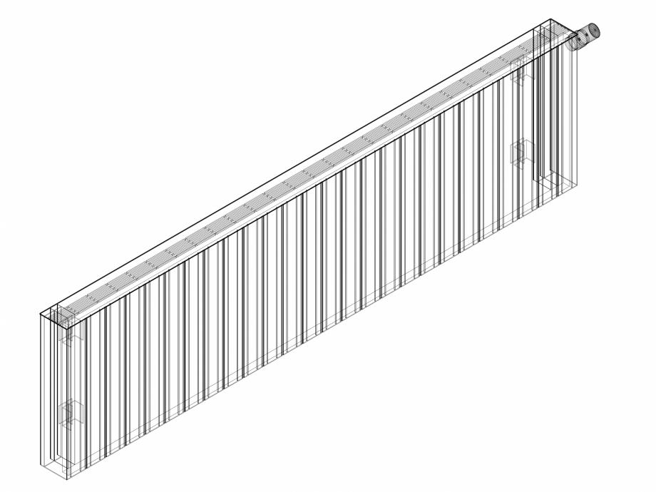 Pagina 1 - CAD-DWG Calorifer decorativ ZAROS H100 500x1950 - 3D VASCO Detaliu de produs