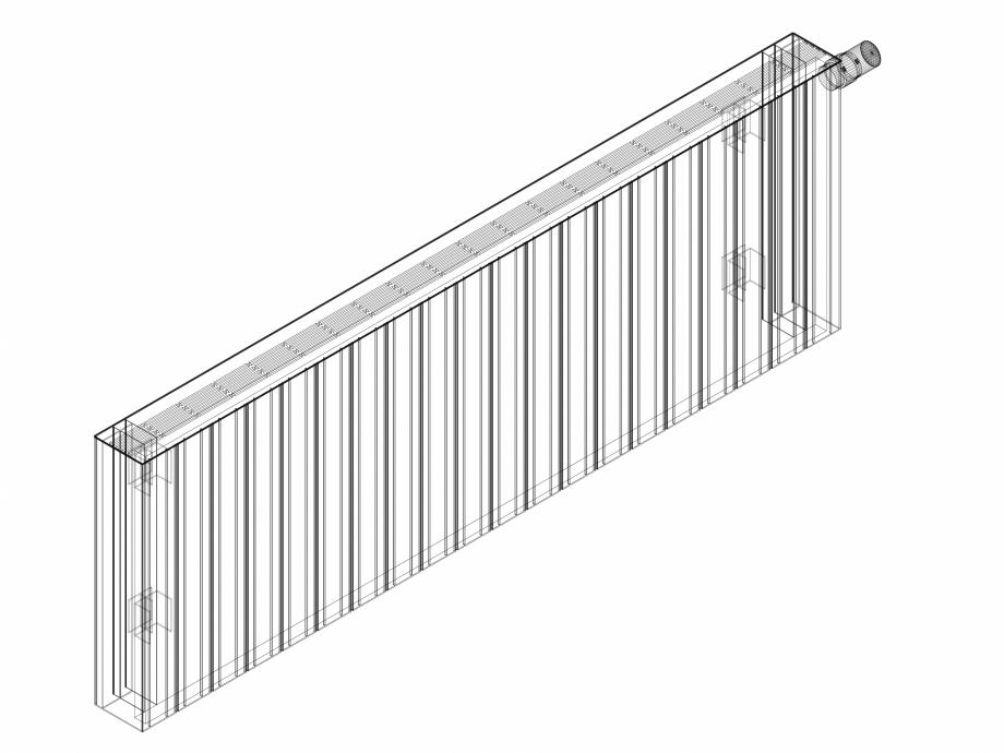 Pagina 1 - CAD-DWG Calorifer decorativ ZAROS H100 500x1500 - 3D VASCO Detaliu de produs