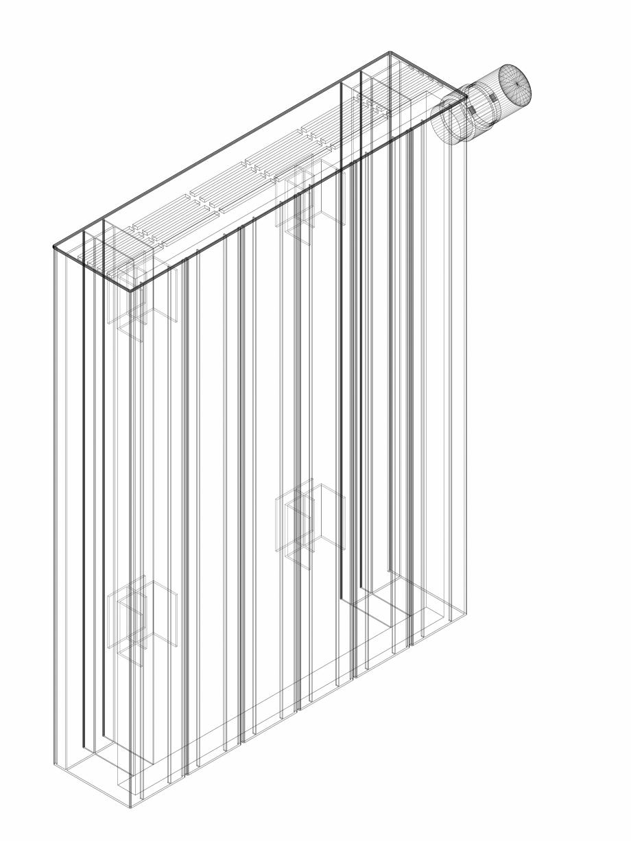 Pagina 1 - CAD-DWG Calorifer decorativ ZAROS H100 600x450 - 3D VASCO Detaliu de produs