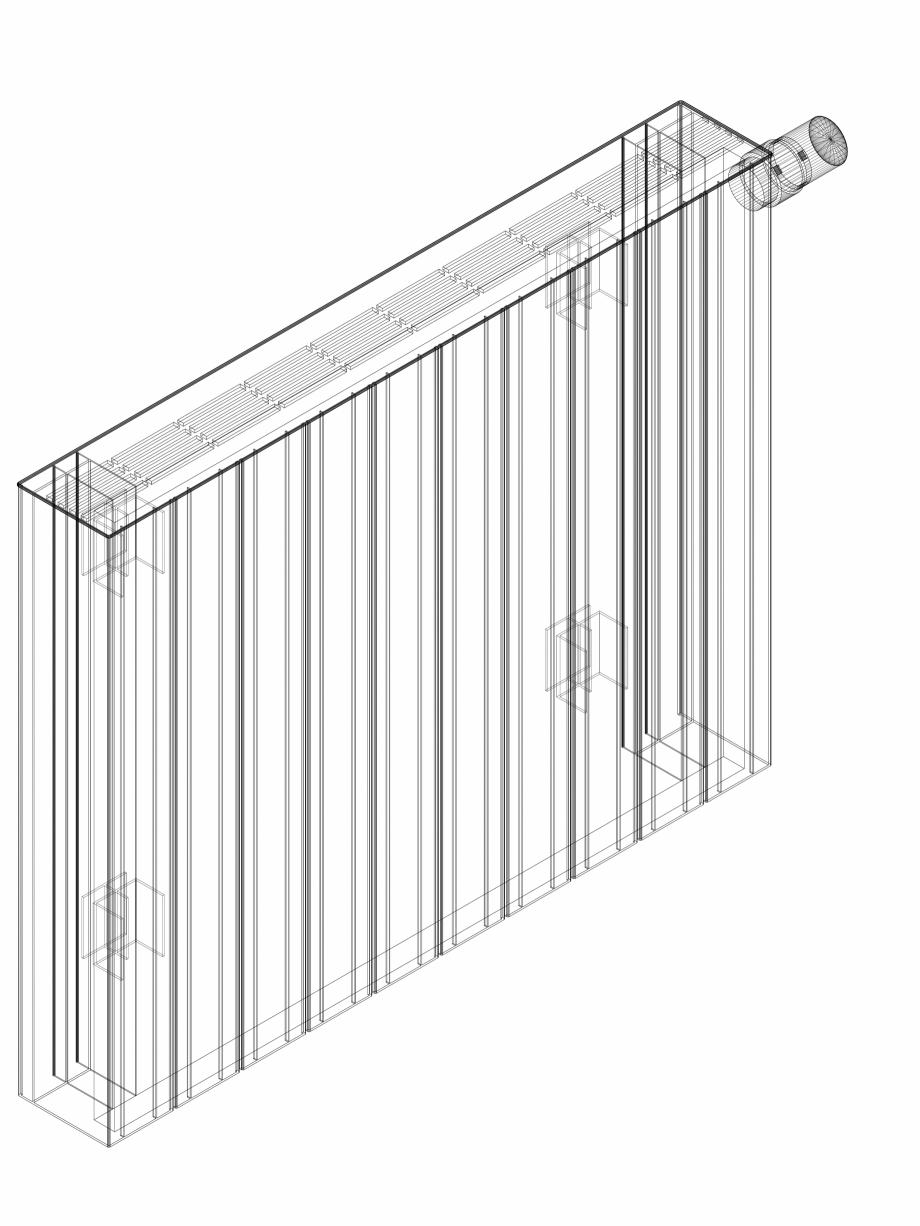 Pagina 1 - CAD-DWG Calorifer decorativ ZAROS H100 600x750 - 3D VASCO Detaliu de produs