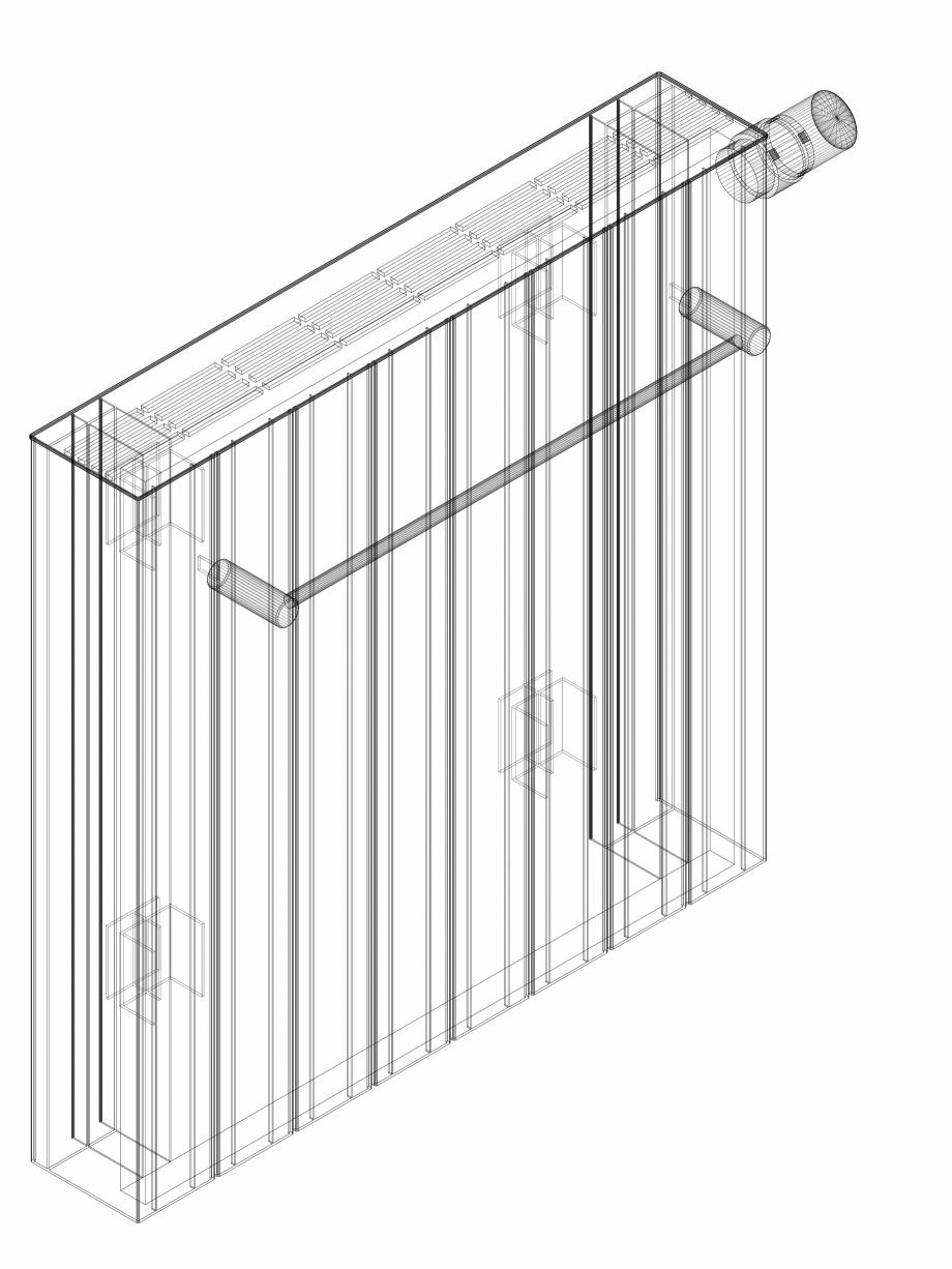 Pagina 1 - CAD-DWG Calorifer decorativ ZAROS H100 600x600 - 3D VASCO Detaliu de produs