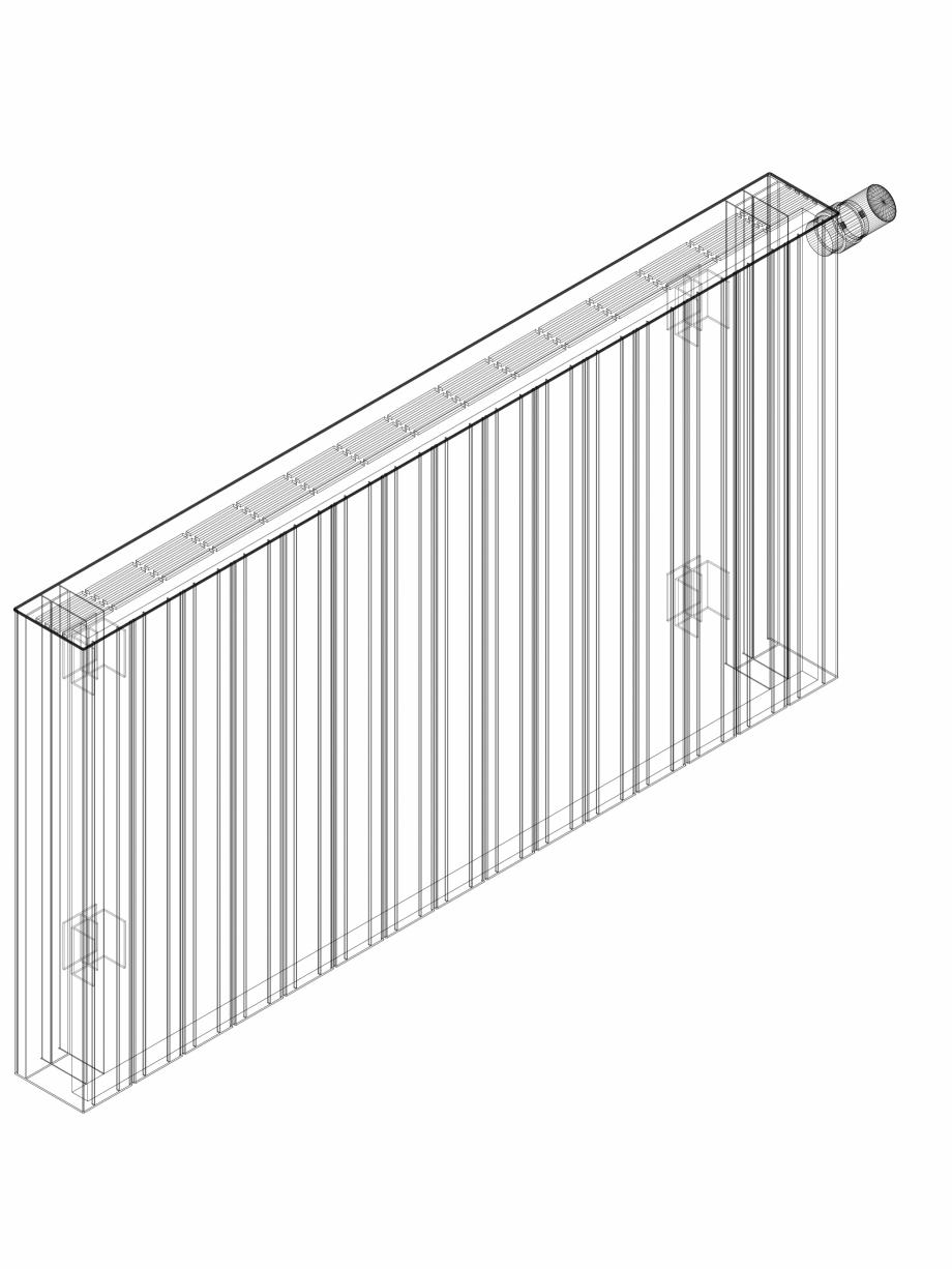Pagina 1 - CAD-DWG Calorifer decorativ ZAROS H100 600x1125 - 3D VASCO Detaliu de produs