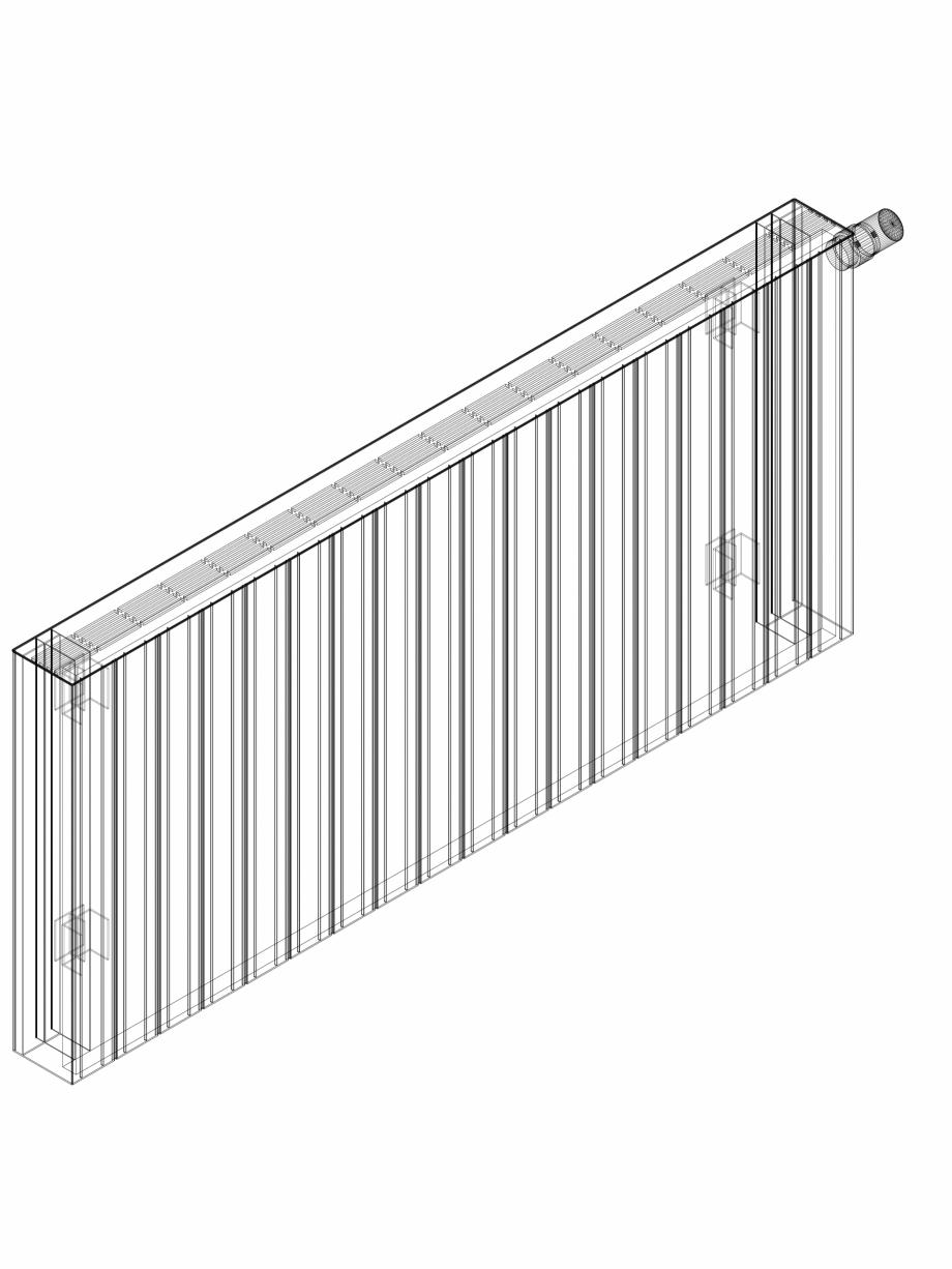 Pagina 1 - CAD-DWG Calorifer decorativ ZAROS H100 600x1350 - 3D VASCO Detaliu de produs
