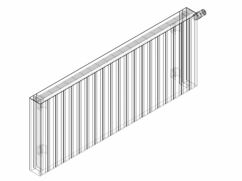 Pagina 1 - CAD-DWG Calorifer decorativ ZAROS H100 600x1500 - 3D VASCO Detaliu de produs