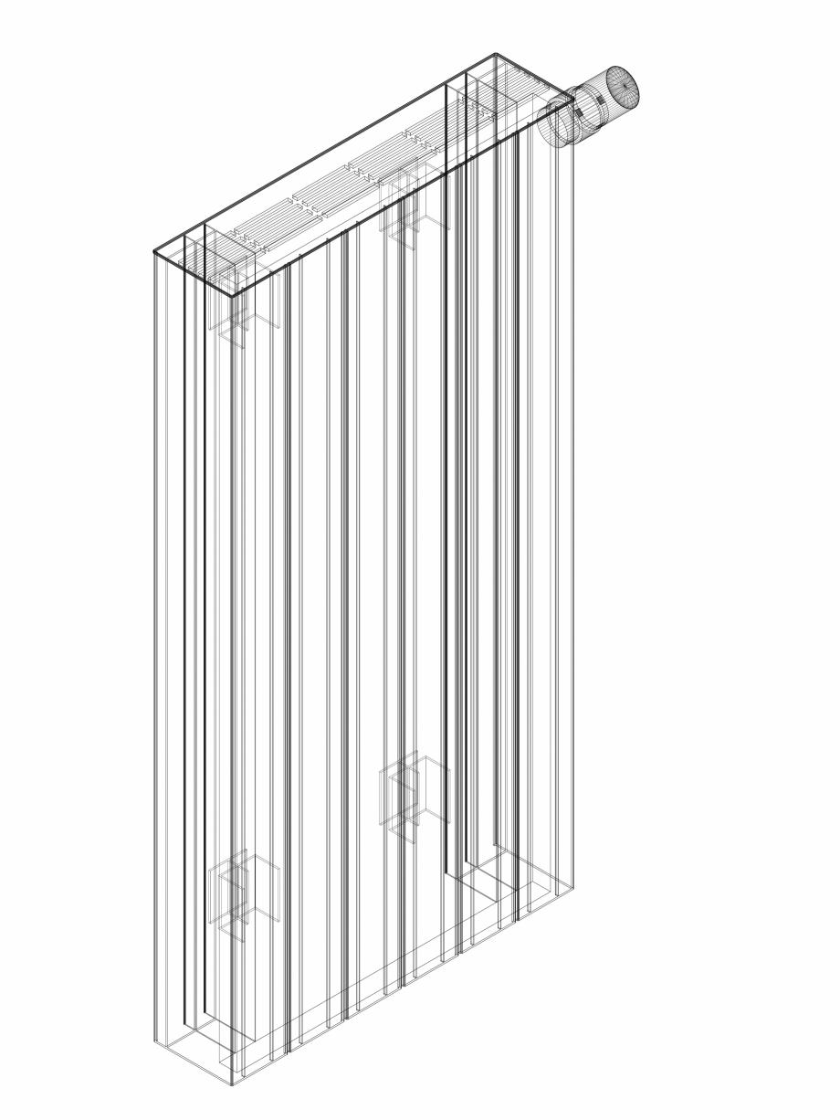 Pagina 1 - CAD-DWG Calorifer decorativ ZAROS H100 900x450 - 3D VASCO Detaliu de produs