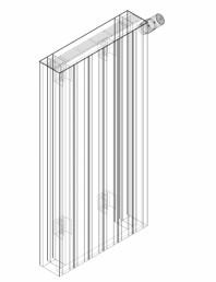 Calorifer decorativ ZAROS H100 900x450 - 3D
