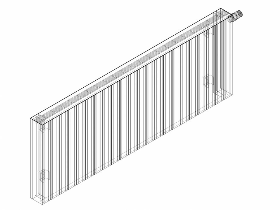 Pagina 1 - CAD-DWG Calorifer decorativ ZAROS H100 600x1650 - 3D VASCO Detaliu de produs