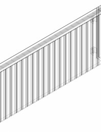 Calorifer decorativ ZAROS H100 600x1650 - 3D