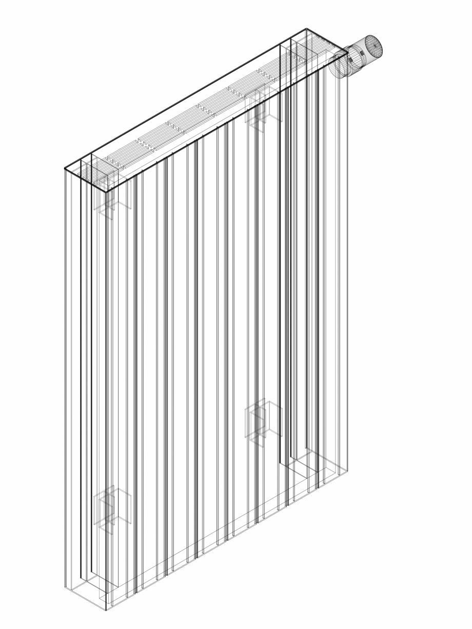 Pagina 1 - CAD-DWG Calorifer decorativ ZAROS H100 900x600 - 3D VASCO Detaliu de produs