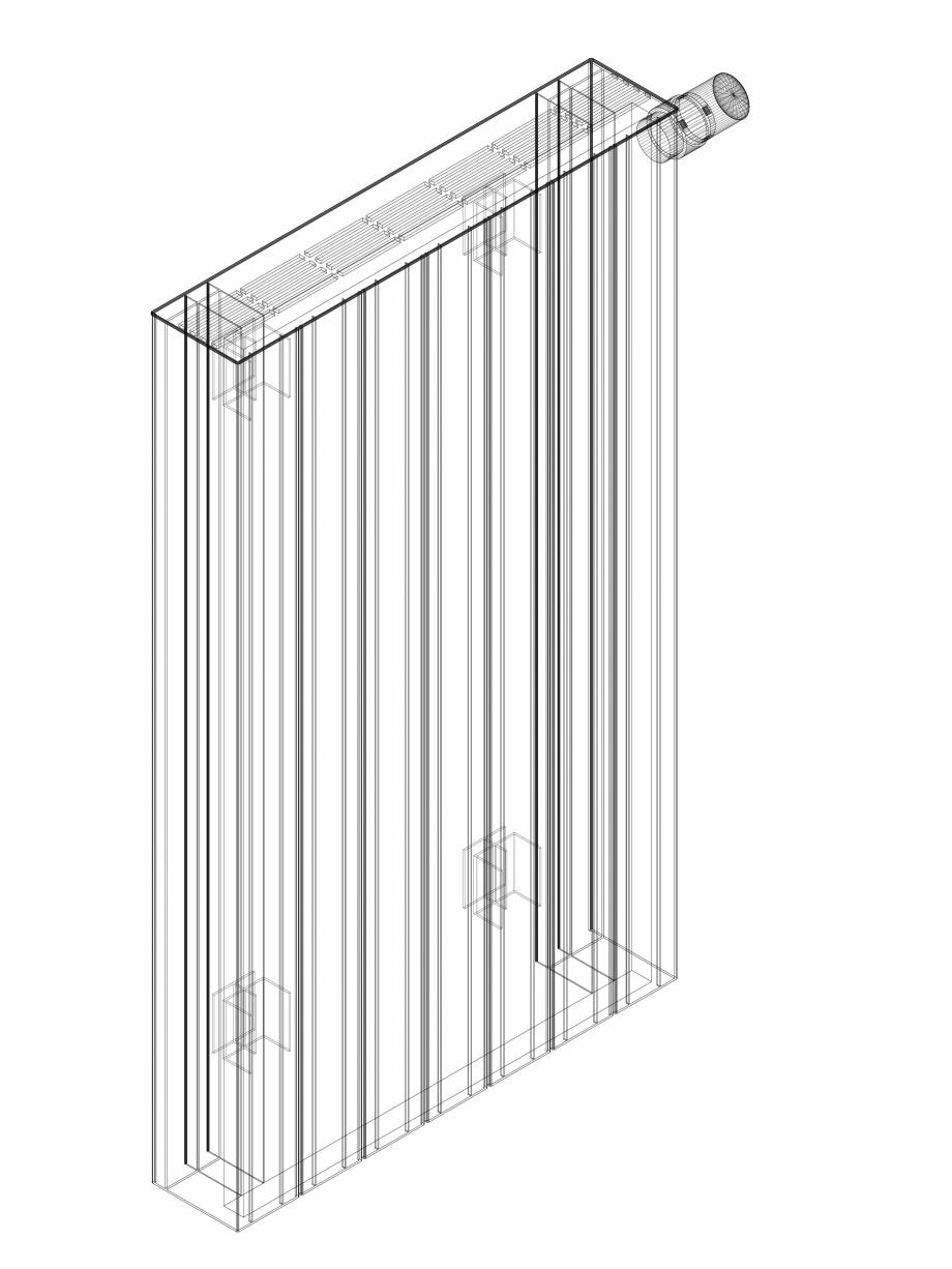 Pagina 1 - CAD-DWG Calorifer decorativ ZAROS H100 900x525 - 3D VASCO Detaliu de produs