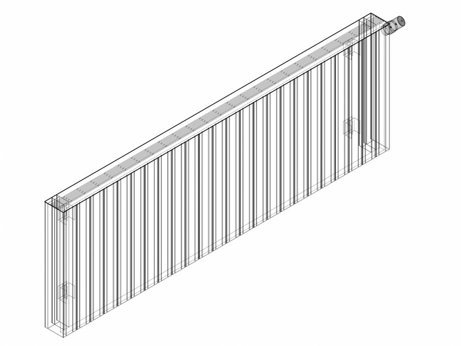 Pagina 1 - CAD-DWG Calorifer decorativ ZAROS H100 600x1800 - 3D VASCO Detaliu de produs