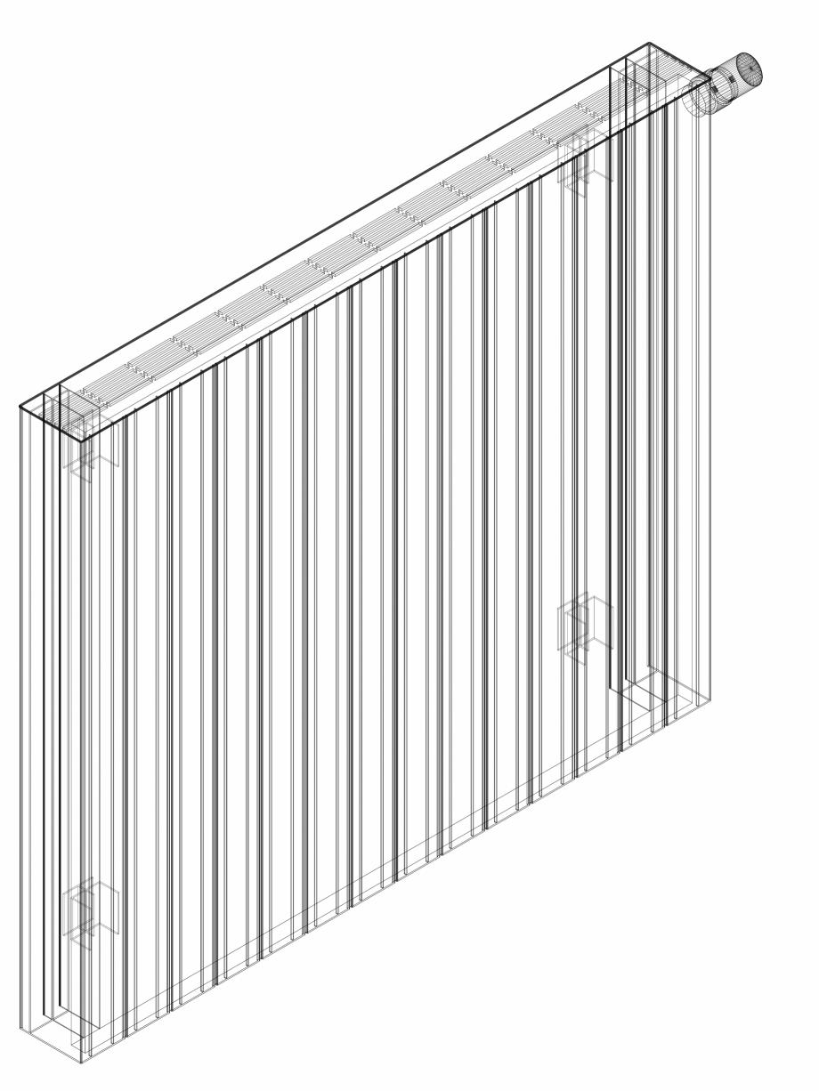 Pagina 1 - CAD-DWG Calorifer decorativ ZAROS H100 900x1050 - 3D VASCO Detaliu de produs