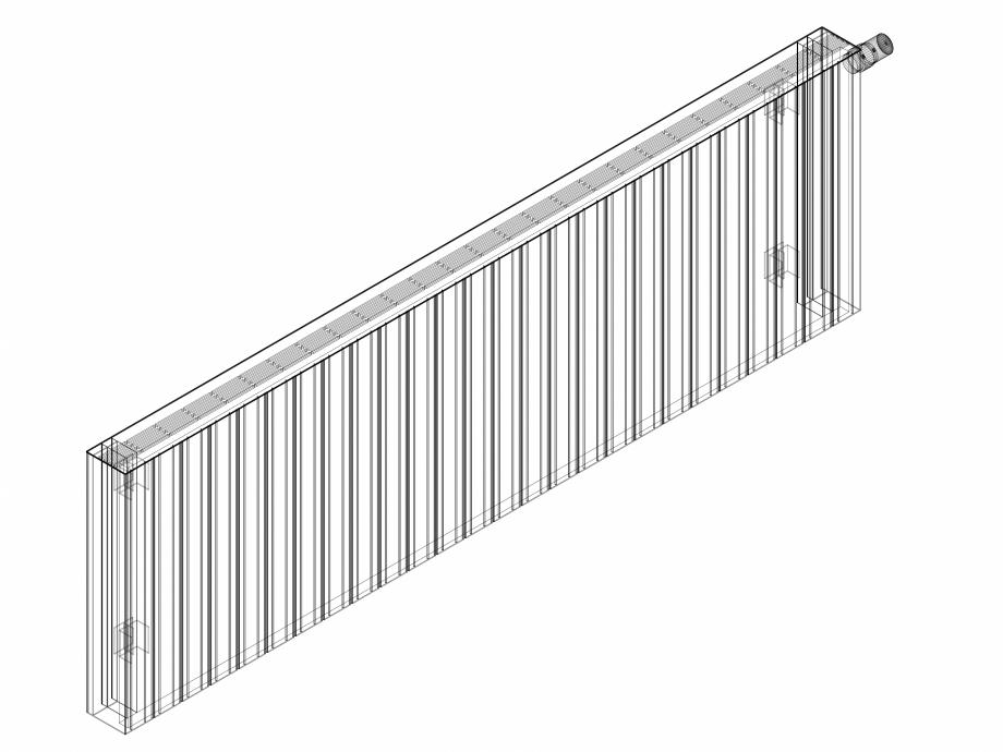 Pagina 1 - CAD-DWG Calorifer decorativ ZAROS H100 600x1950 - 3D VASCO Detaliu de produs