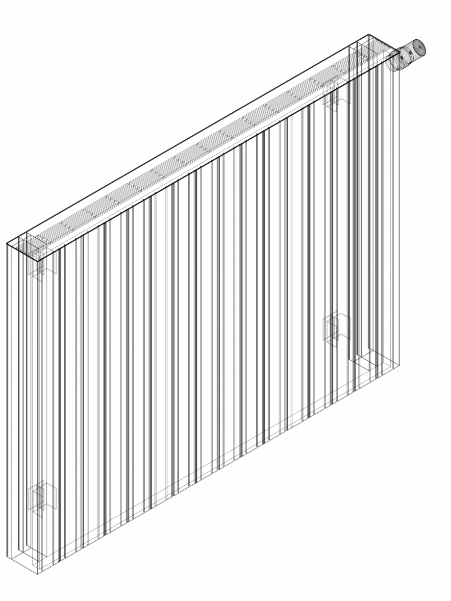 Pagina 1 - CAD-DWG Calorifer decorativ ZAROS H100 900x1200 - 3D VASCO Detaliu de produs
