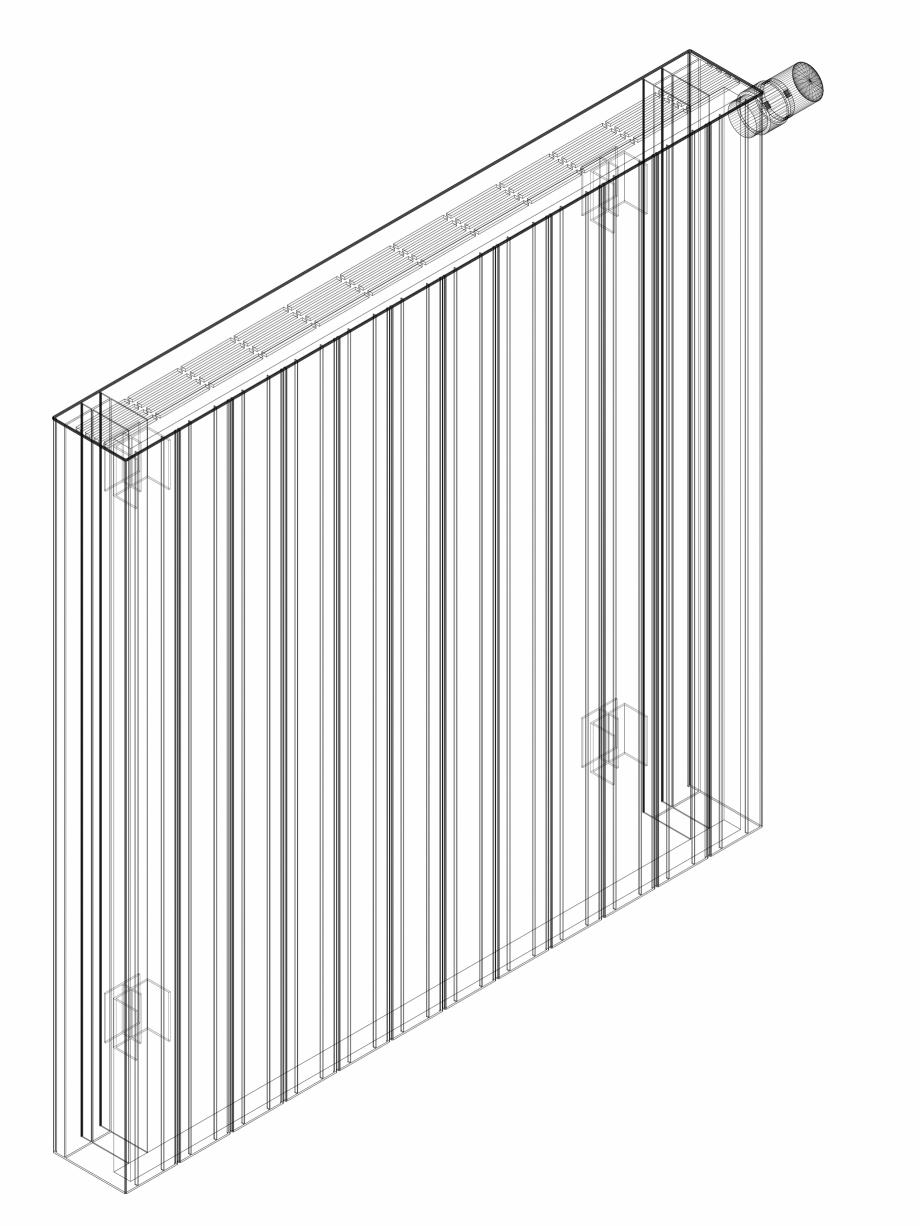 Pagina 1 - CAD-DWG Calorifer decorativ ZAROS H100 900x900 - 3D VASCO Detaliu de produs
