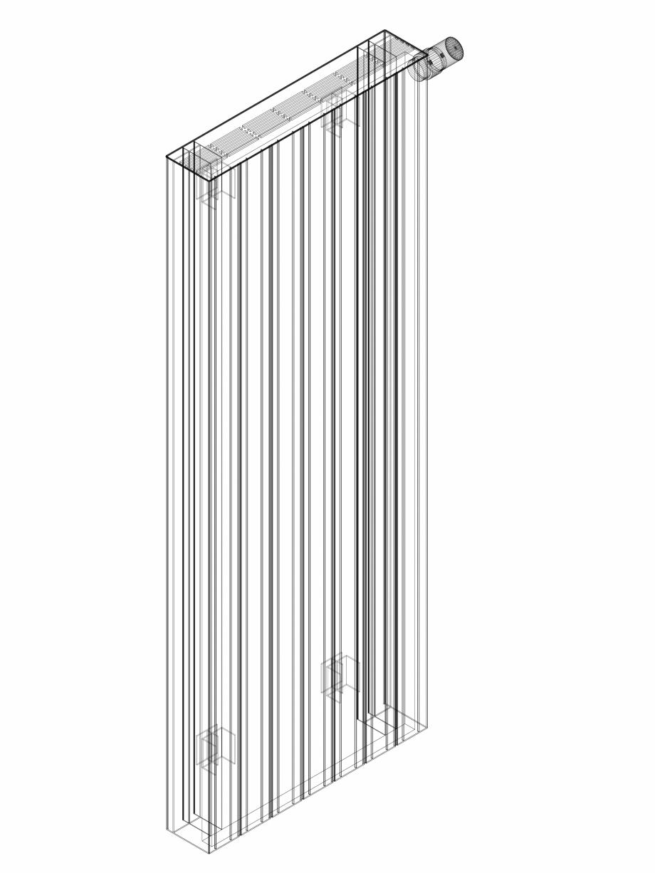 Pagina 1 - CAD-DWG Calorifer decorativ ZAROS H100 1400x525 - 3D VASCO Detaliu de produs