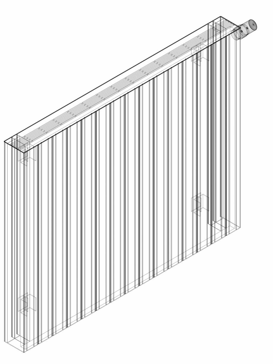 Pagina 1 - CAD-DWG Calorifer decorativ ZAROS H100 900x1125 - 3D VASCO Detaliu de produs