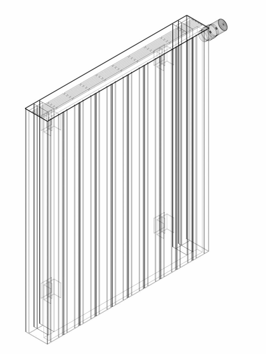 Pagina 1 - CAD-DWG Calorifer decorativ ZAROS H100 900x750 - 3D VASCO Detaliu de produs