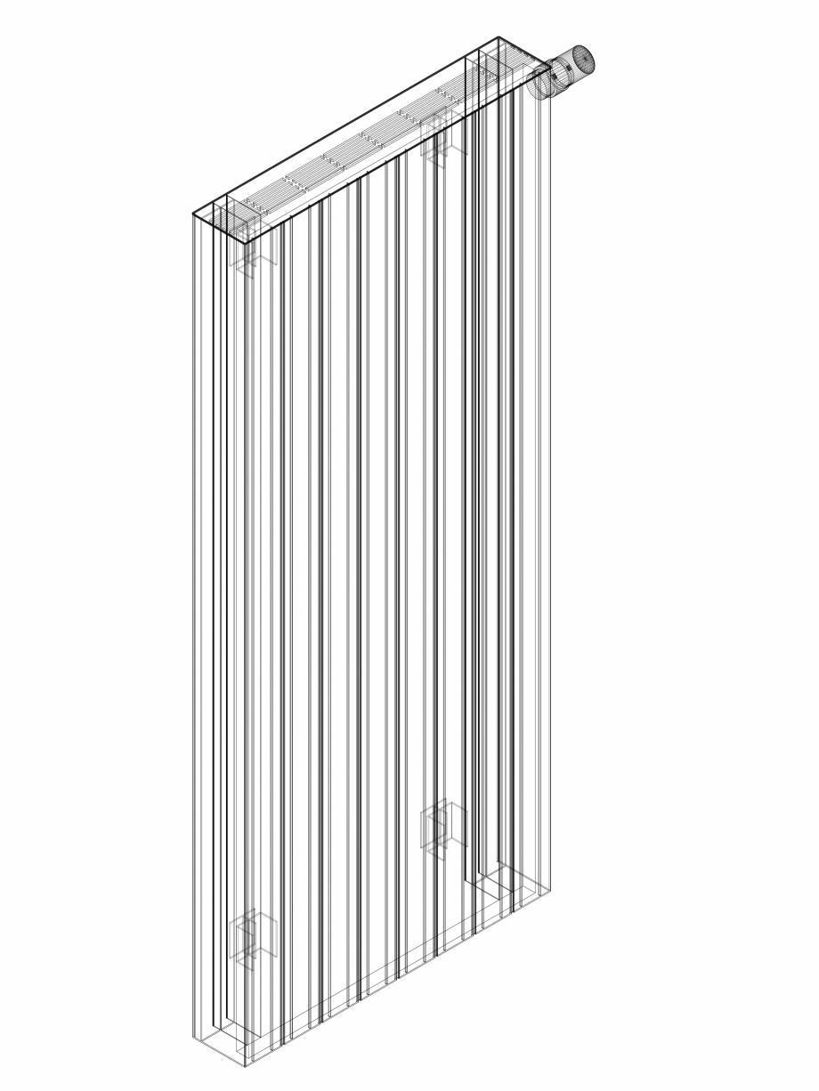 Pagina 1 - CAD-DWG Calorifer decorativ ZAROS H100 1400x600 - 3D VASCO Detaliu de produs