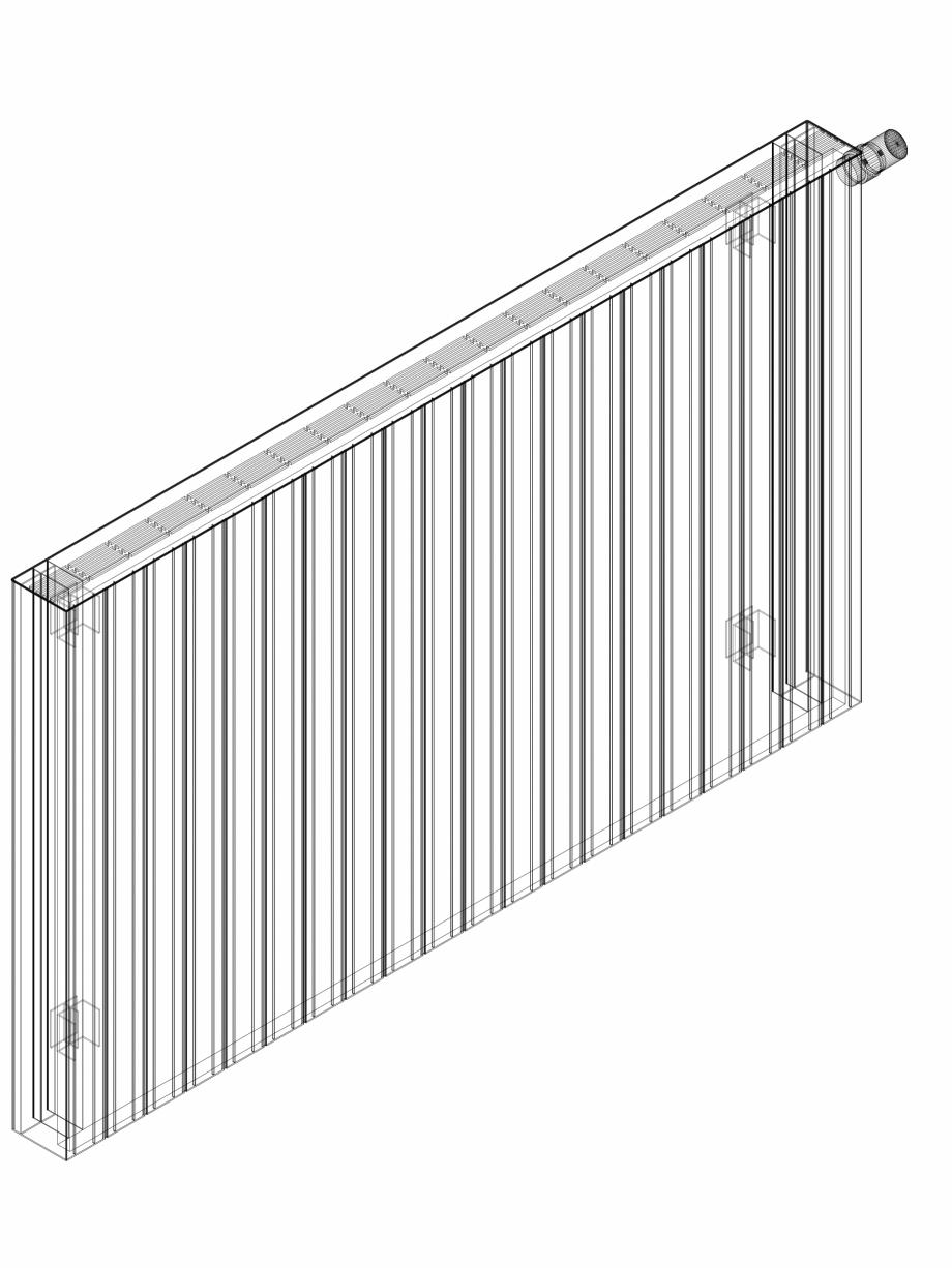 Pagina 1 - CAD-DWG Calorifer decorativ ZAROS H100 900x1500 - 3D VASCO Detaliu de produs