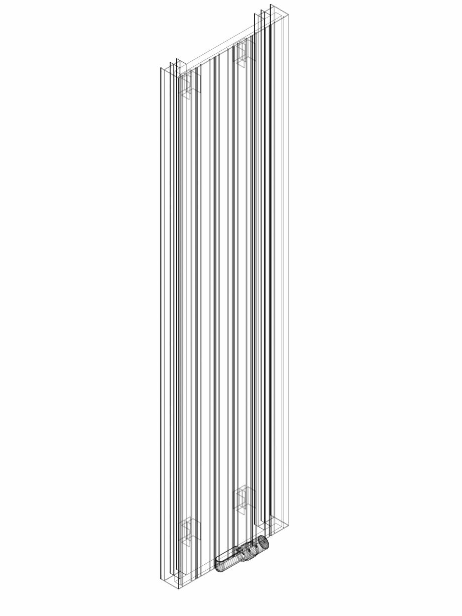 Pagina 1 - CAD-DWG Calorifer decorativ ZAROS V75 1800x450 - 3D VASCO Detaliu de produs ZAROS V75/...