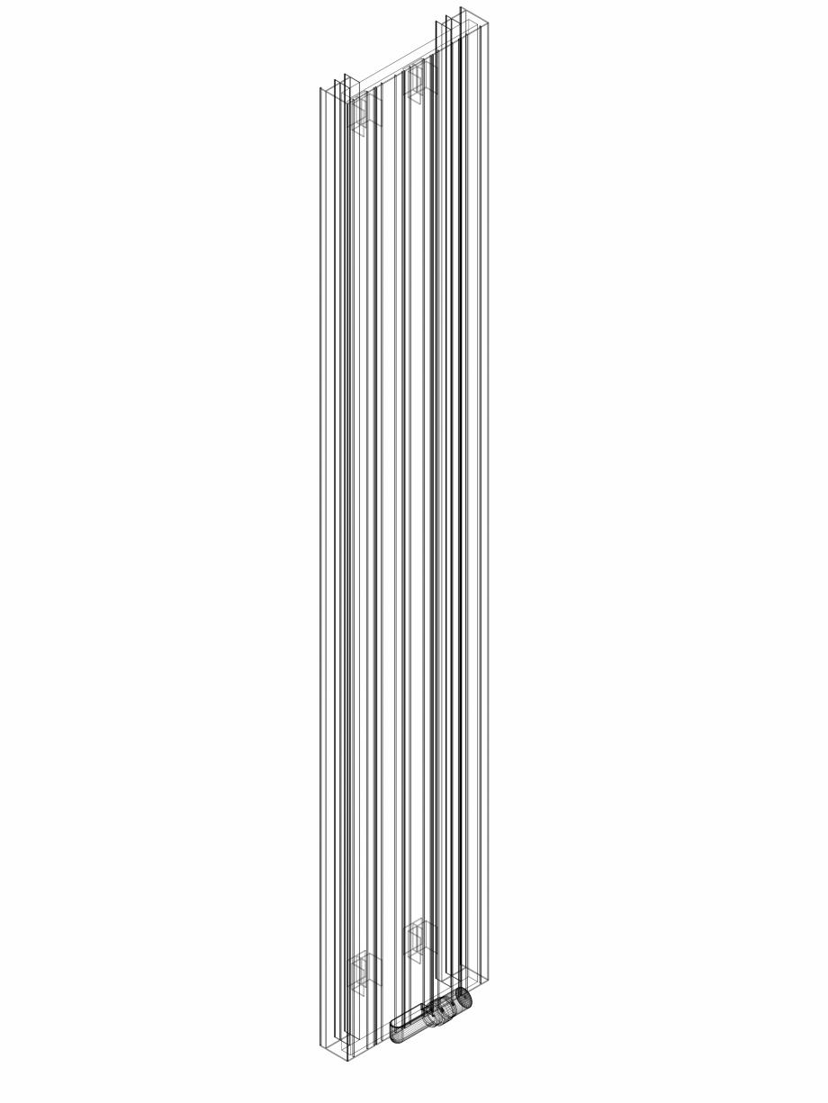 Pagina 1 - CAD-DWG Calorifer decorativ ZAROS V75 2000x375 - 3D VASCO Detaliu de produs ZAROS V75/...