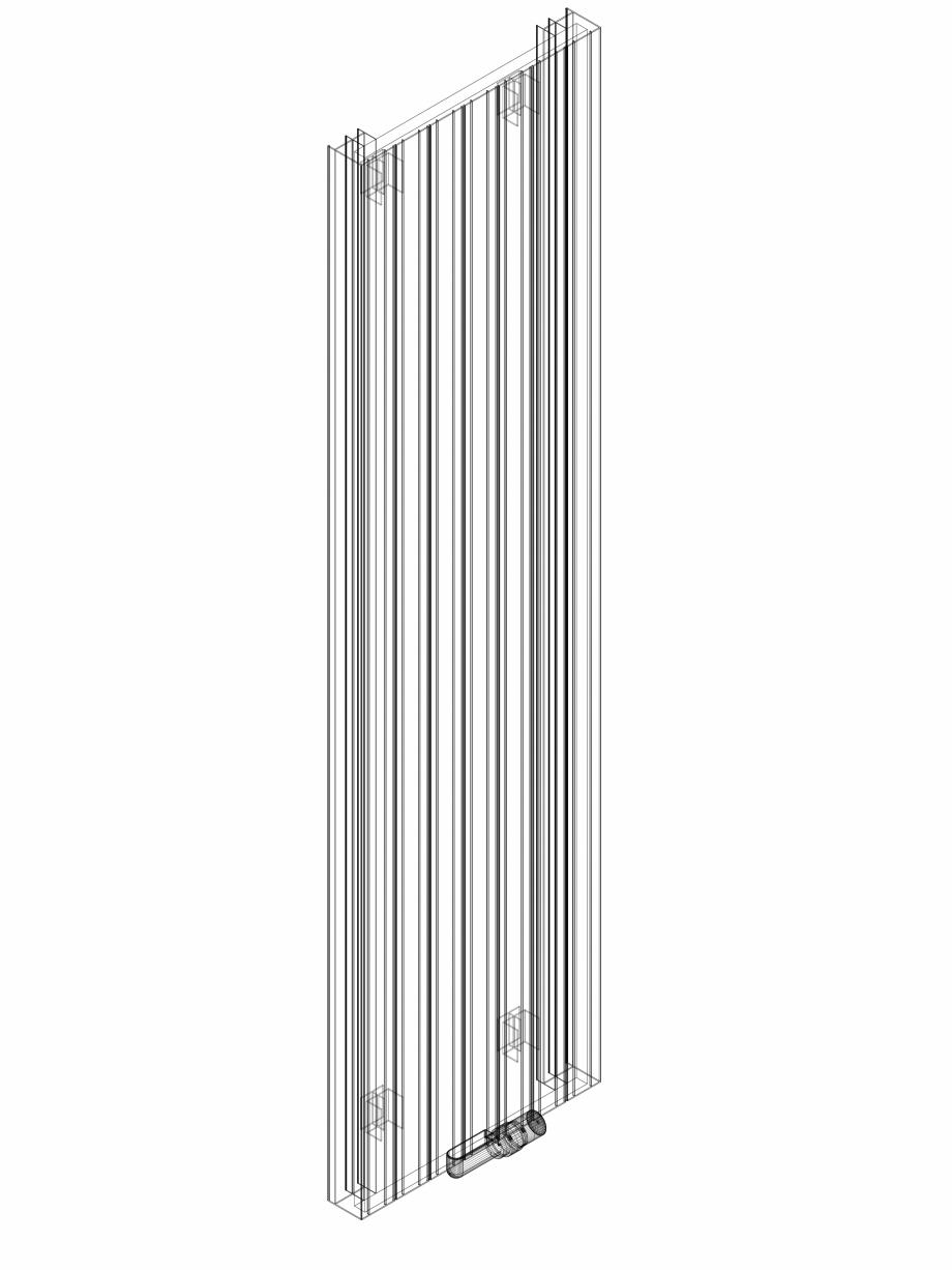 Pagina 1 - CAD-DWG Calorifer decorativ ZAROS V75 2000x525 - 3D VASCO Detaliu de produs ZAROS V75/...