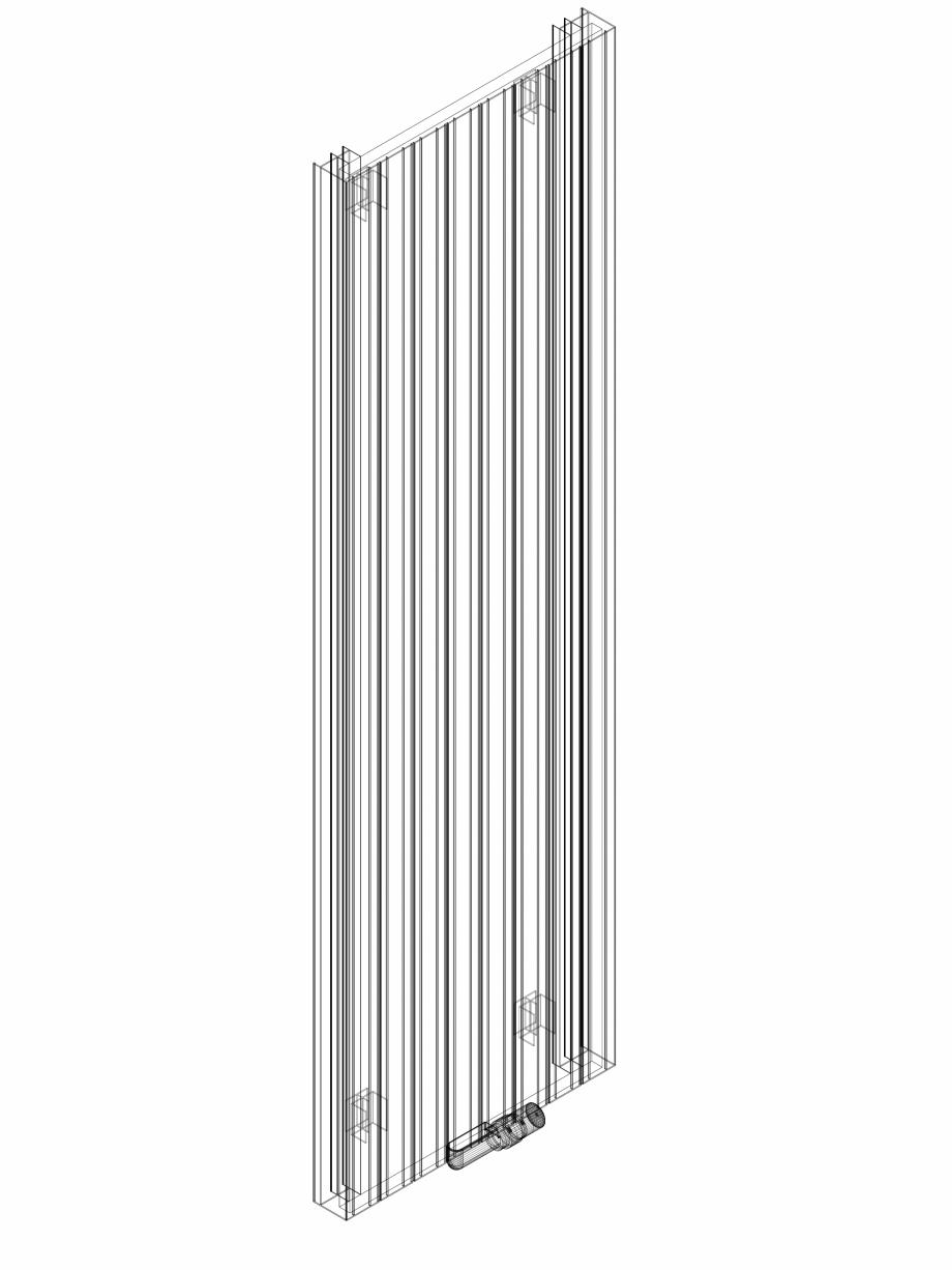 Pagina 1 - CAD-DWG Calorifer decorativ ZAROS V75 2000x600 - 3D VASCO Detaliu de produs ZAROS V75/...