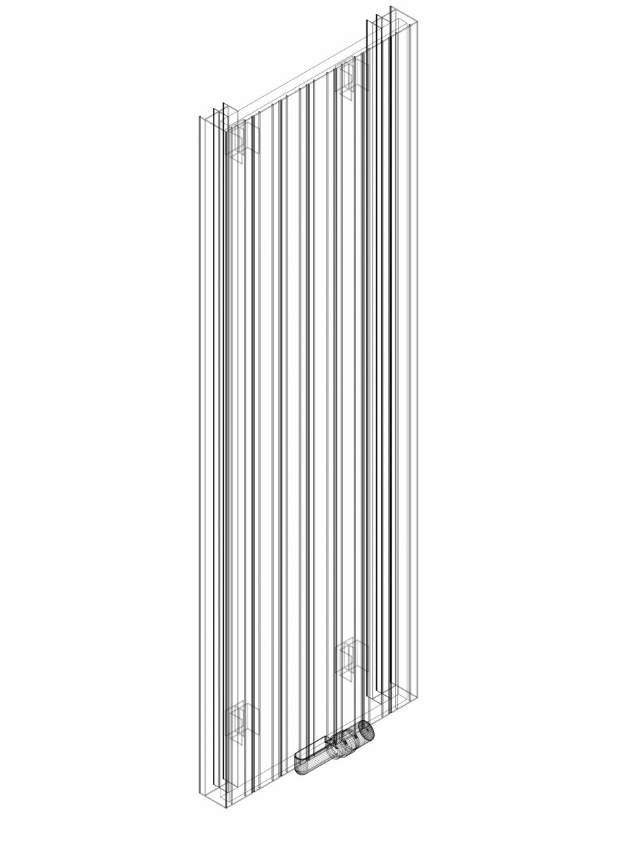 Pagina 1 - CAD-DWG Calorifer decorativ ZAROS V75 1600x525 - 3D VASCO Detaliu de produs ZAROS V75/...