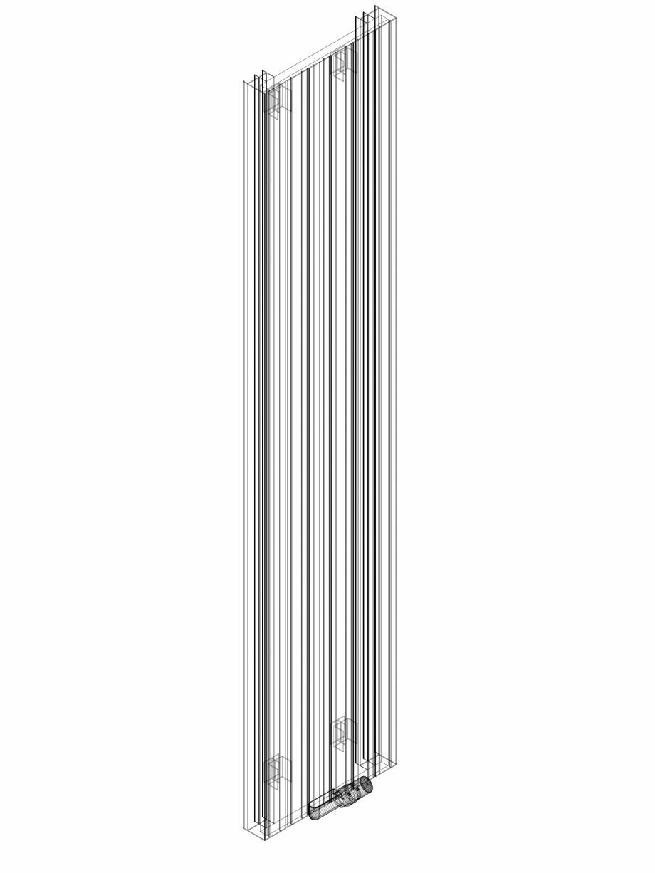Pagina 1 - CAD-DWG Calorifer decorativ ZAROS V75 2200x450 - 3D VASCO Detaliu de produs ZAROS V75/...