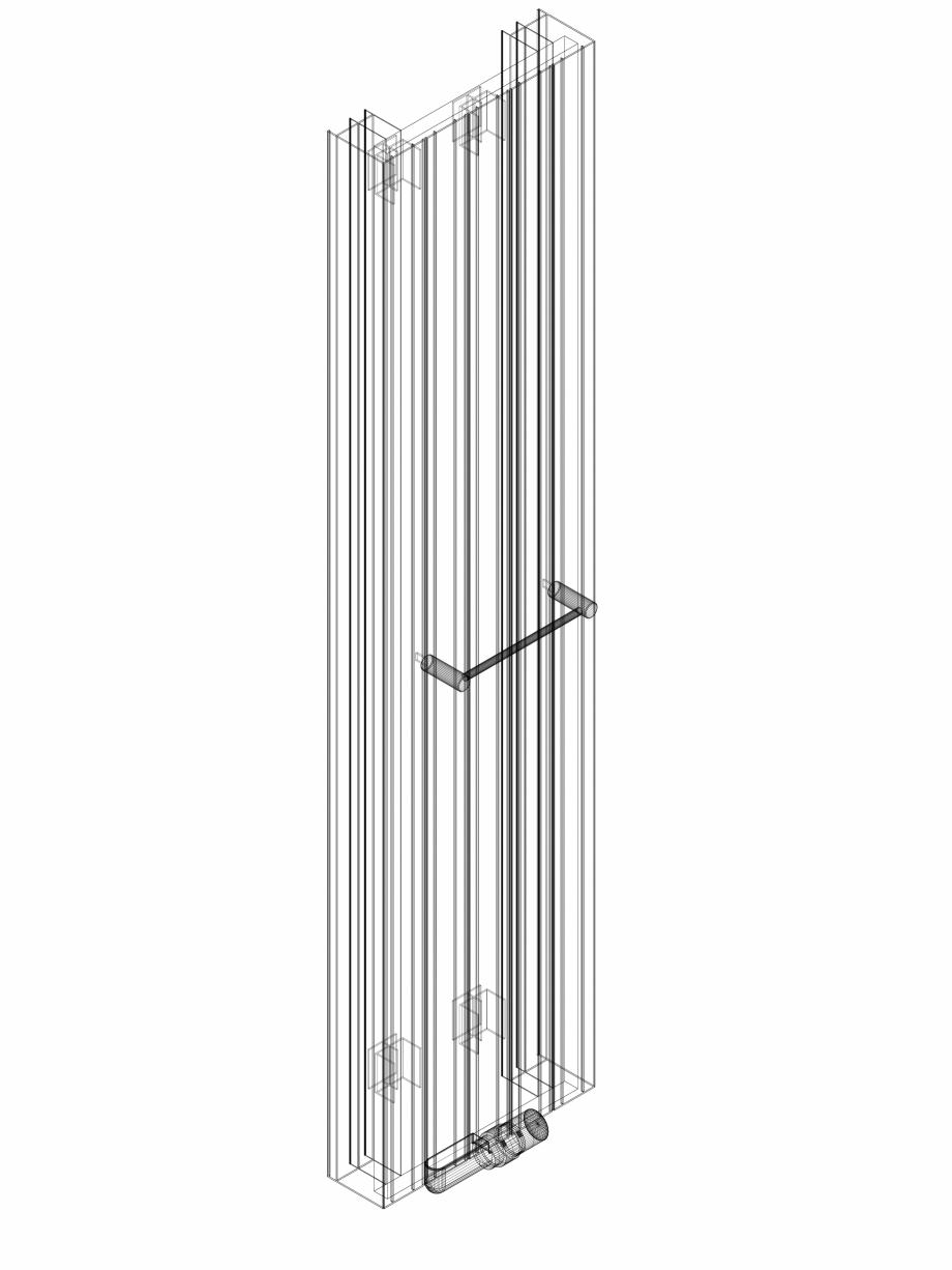 Pagina 1 - CAD-DWG Calorifer decorativ ZAROS V100 1600x375 - 3D VASCO Detaliu de produs ZAROS V75/...