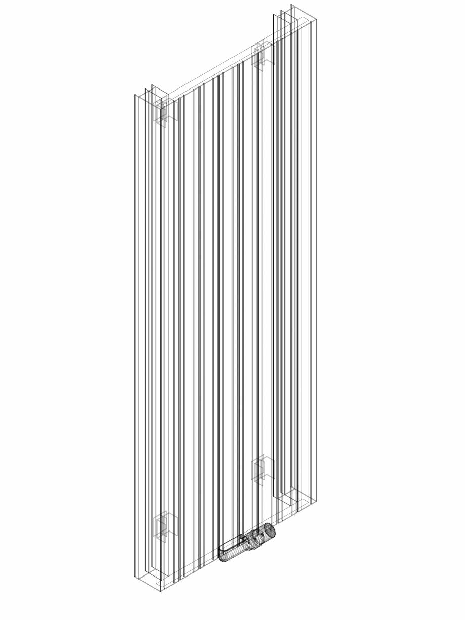 Pagina 1 - CAD-DWG Calorifer decorativ ZAROS V100 1600x600 - 3D VASCO Detaliu de produs ZAROS V75/...