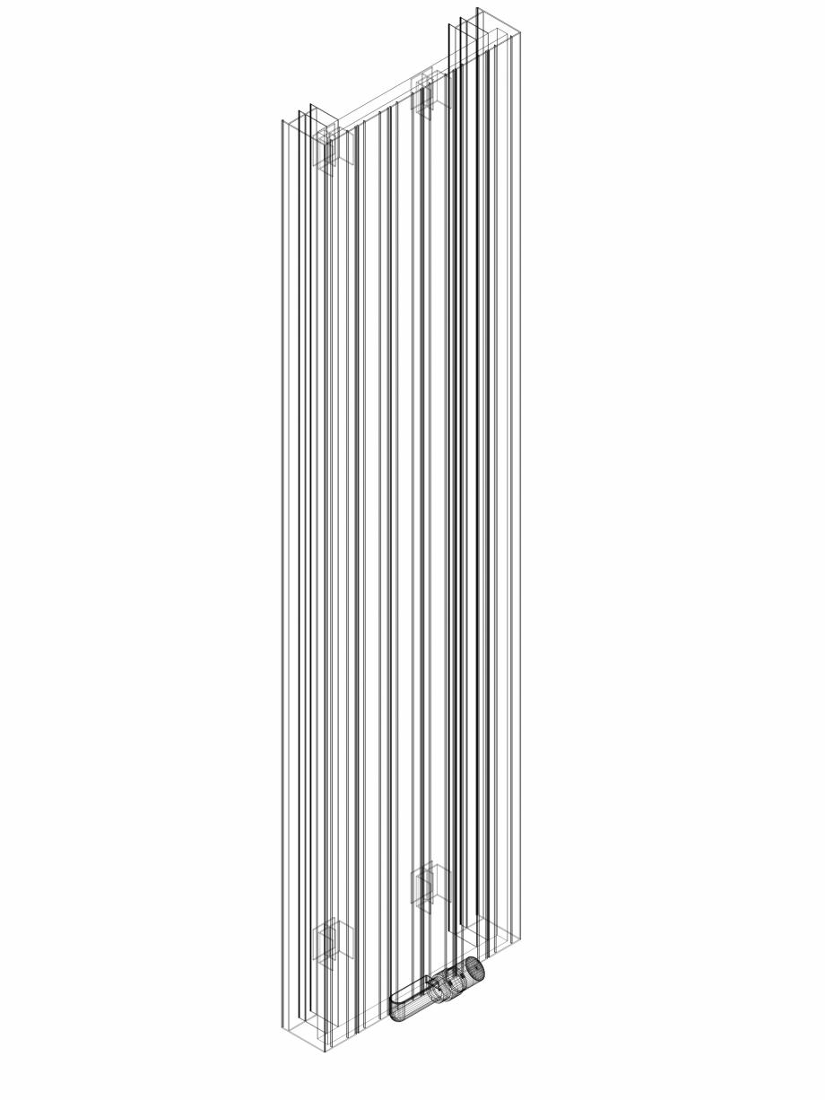 Pagina 1 - CAD-DWG Calorifer decorativ ZAROS V100 1800x375 - 3D VASCO Detaliu de produs ZAROS V75/...