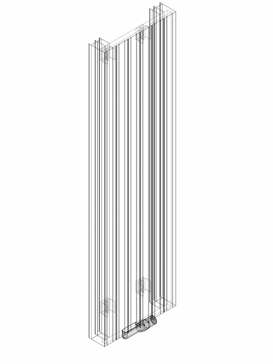 Pagina 1 - CAD-DWG Calorifer decorativ ZAROS V100 1600x450 - 3D VASCO Detaliu de produs ZAROS V75/...