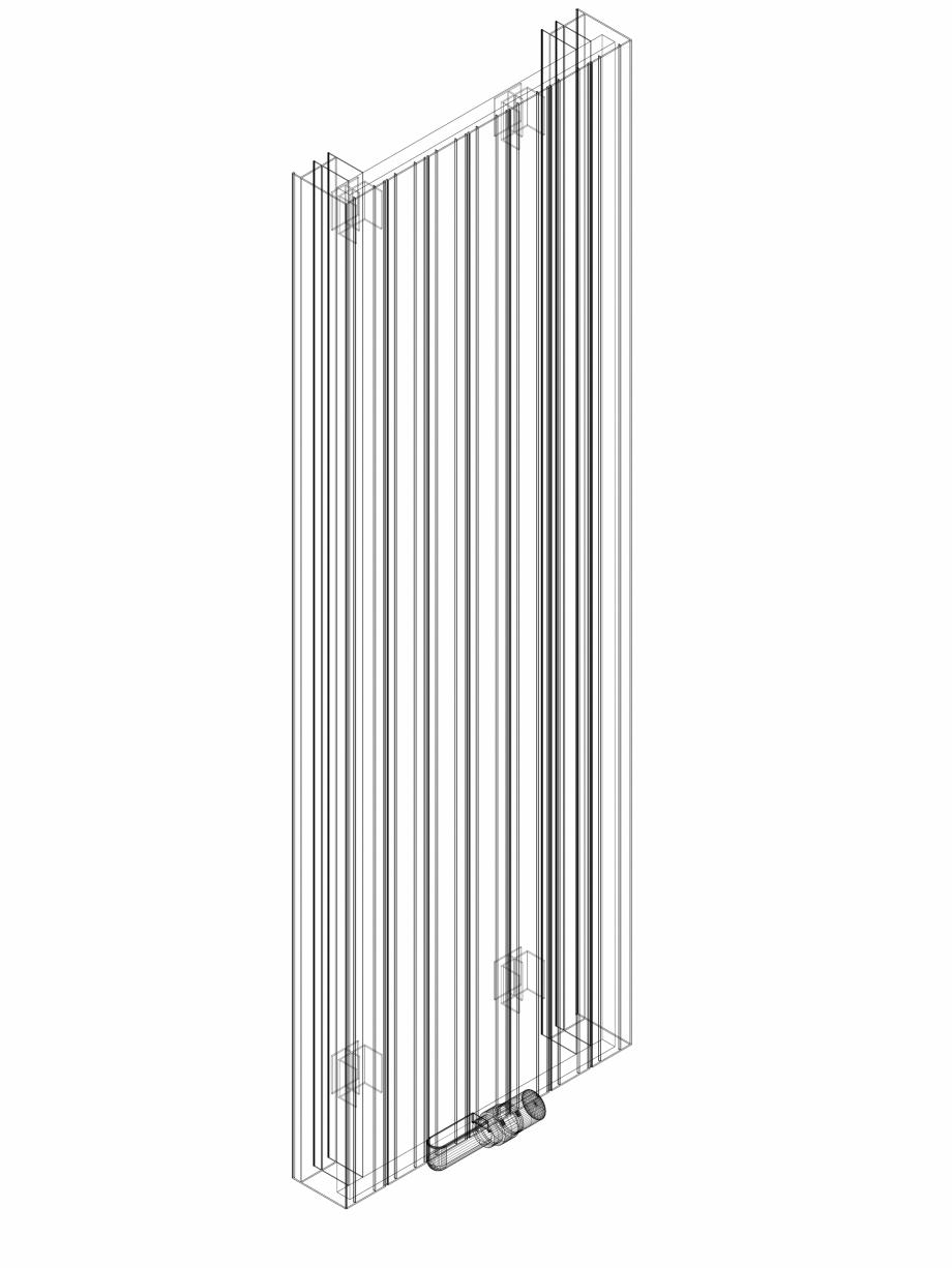 Pagina 1 - CAD-DWG Calorifer decorativ ZAROS V100 1600x525 - 3D VASCO Detaliu de produs ZAROS V75/...