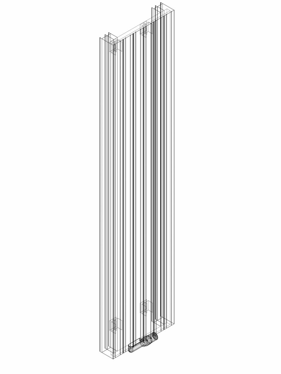 Pagina 1 - CAD-DWG Calorifer decorativ ZAROS V100 2000x450 - 3D VASCO Detaliu de produs ZAROS V75/...