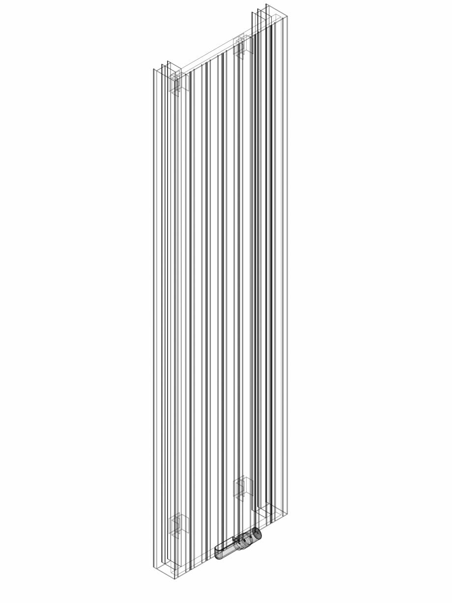 Pagina 1 - CAD-DWG Calorifer decorativ ZAROS V100 2000x525 - 3D VASCO Detaliu de produs ZAROS V75/...