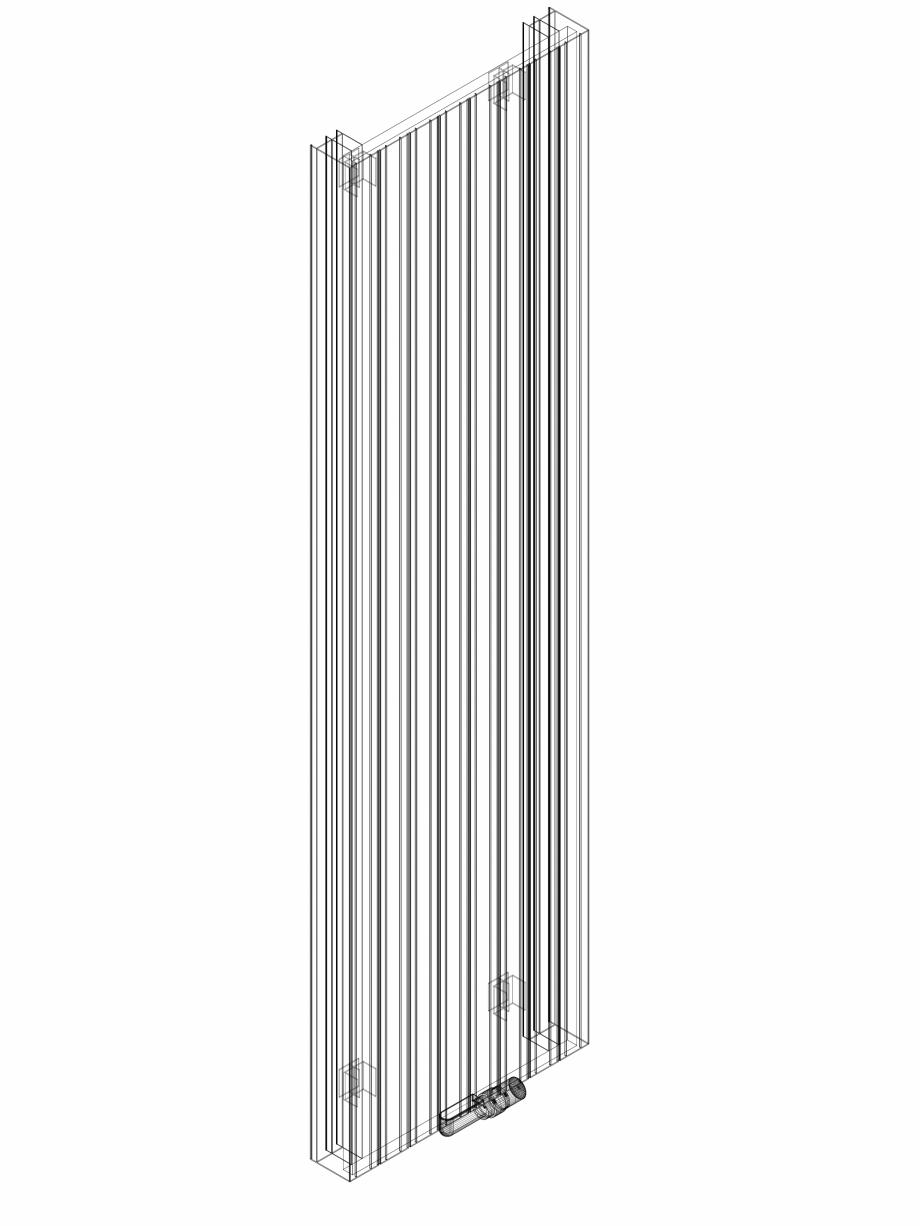 Pagina 1 - CAD-DWG Calorifer decorativ ZAROS V100 2200x600 - 3D VASCO Detaliu de produs ZAROS V75/...