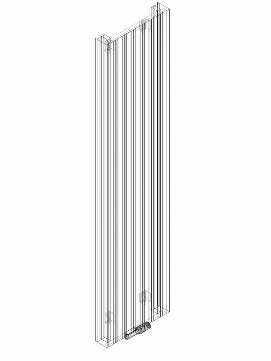 Pagina 1 - CAD-DWG Calorifer decorativ ZAROS V100 2200x525 - 3D VASCO Detaliu de produs ZAROS V75/...