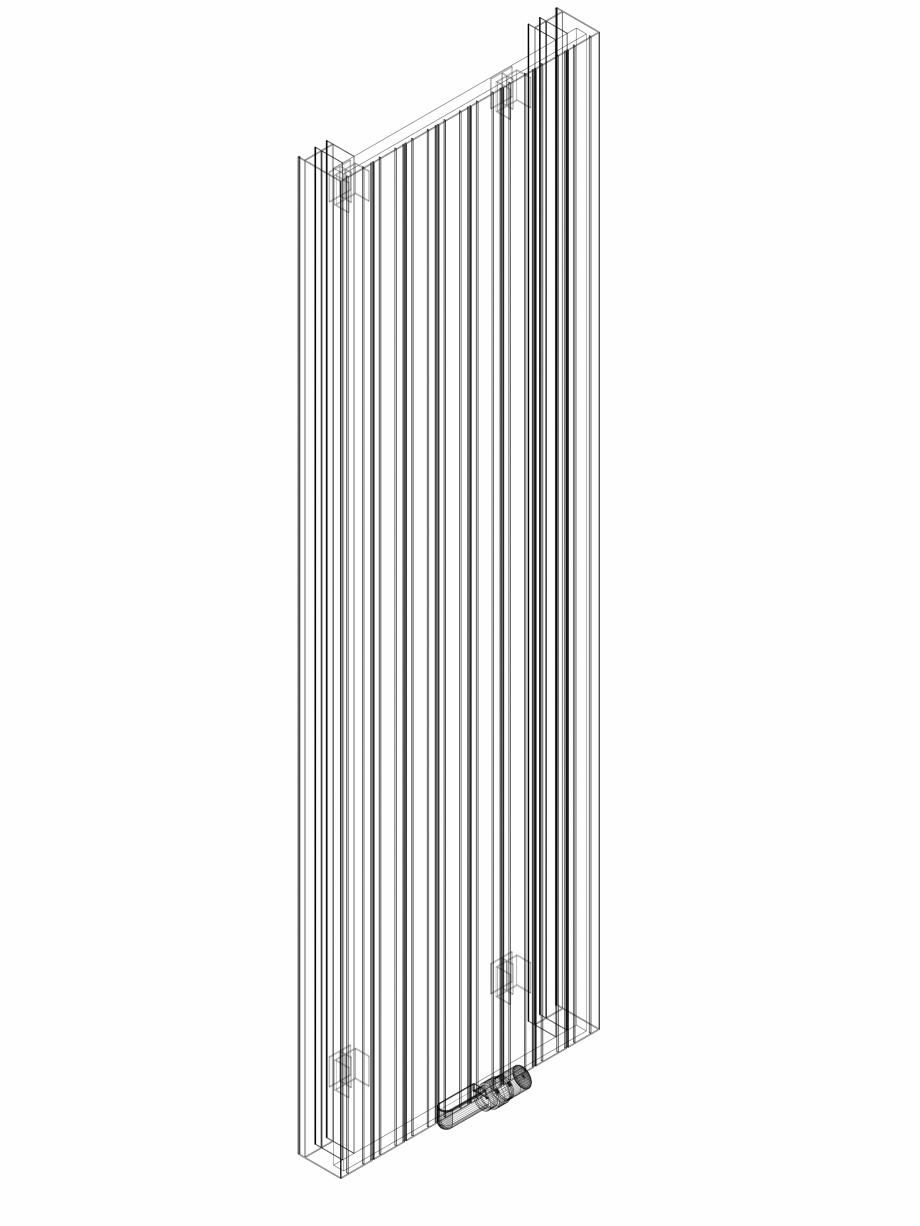 Pagina 1 - CAD-DWG Calorifer decorativ ZAROS V100 2000x600 - 3D VASCO Detaliu de produs ZAROS V75/...