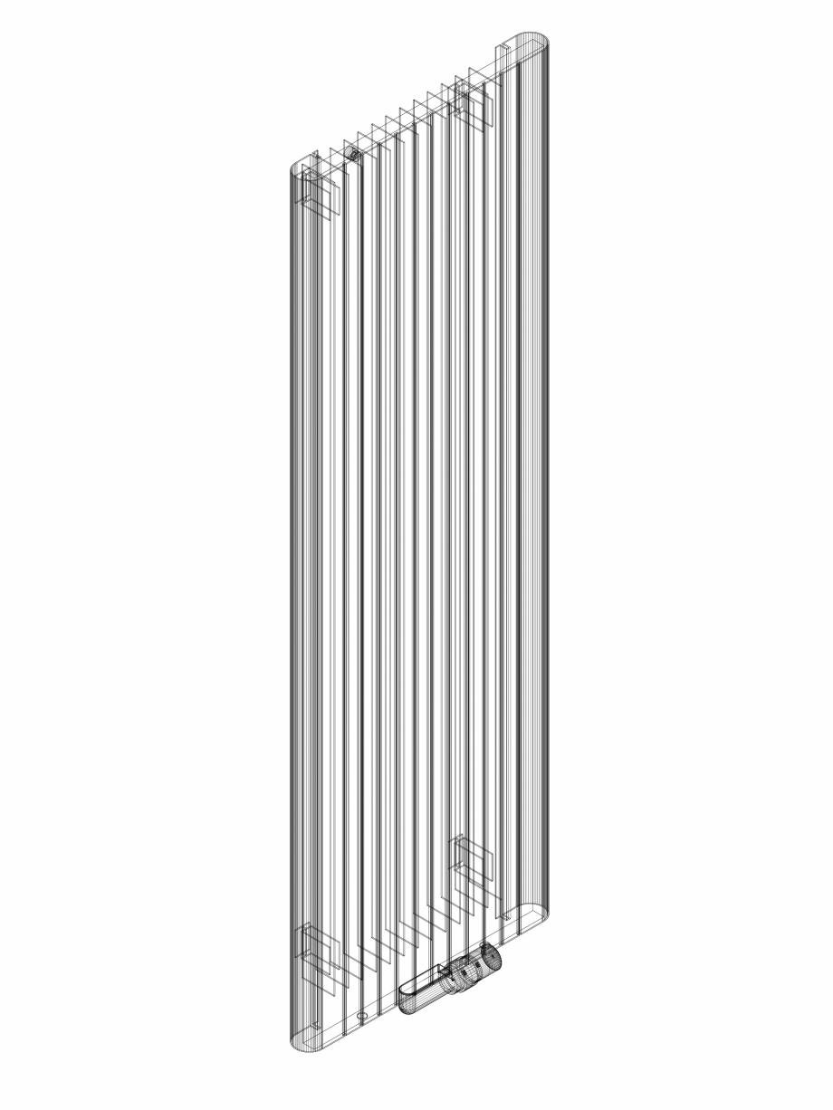 Pagina 1 - CAD-DWG Calorifer decorativ ALU-ZEN 1600x525 - 3D VASCO Detaliu de produs