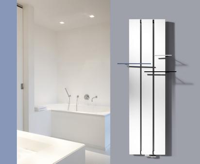 Calorifer decorativ din aluminiu Beams - montaj perete baie BEAMS Calorifere decorative din aluminiu