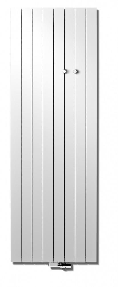 Calorifer vertical decorativ din aluminiu Zaros cu agatatori ZAROS V75/ V100 Calorifere verticale decorative din aluminiu