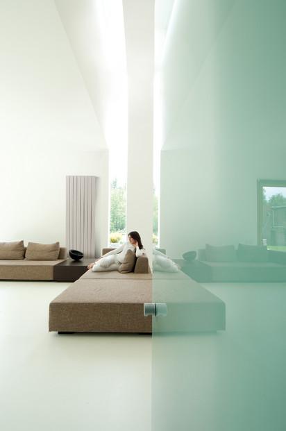 Calorifer vertical decorativ din aluminiu Zaros - montaj perete living ZAROS V75 V100 Calorifere verticale decorative