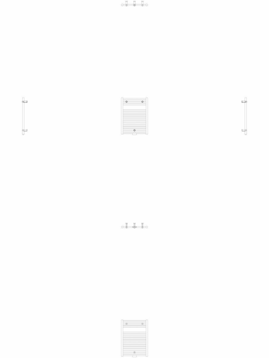 Pagina 1 - CAD-DWG Calorifer decorativ IRIS-HDM 690-500 2D VASCO Detaliu de produs